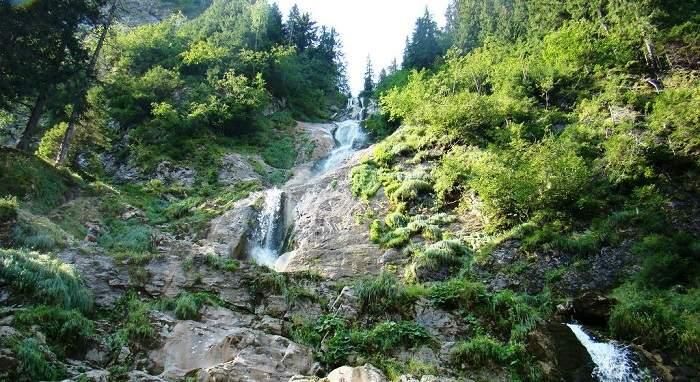 horses waterfall in Romania