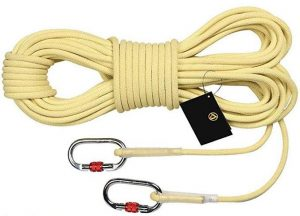 MudFog UIAA Certified Nylon Kernmantle Static Rope 11mm Hauling and Mountaineering for Rock Climbing Rappelling Canyoneering Rescue