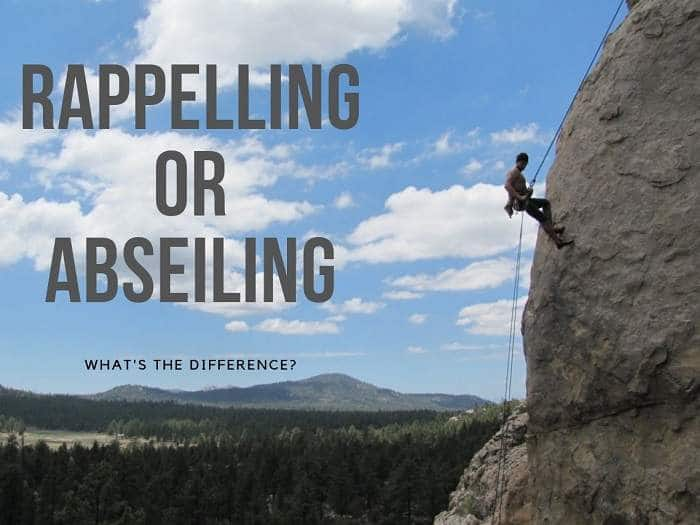 rappelling vs abseiling