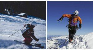 ski rappelling