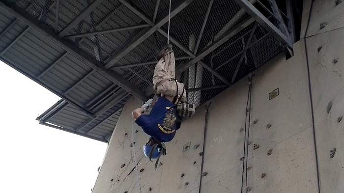 inverted rappelling