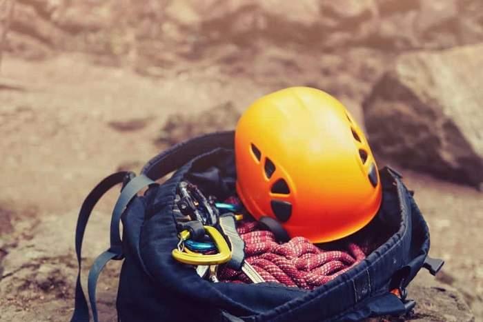 rappelling helmet