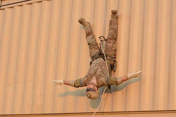 how to rappel upside down