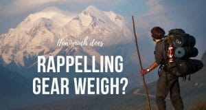 rappelling gear weigh