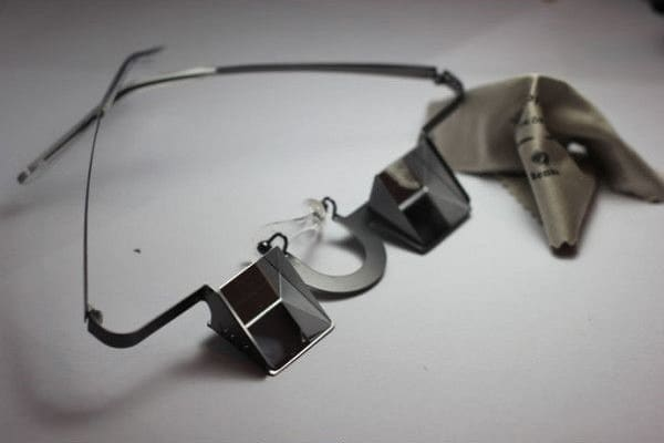 a pair of belay glasses