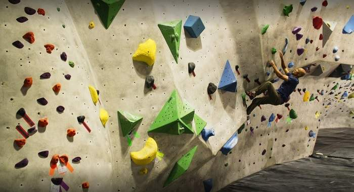The Stronghold Rock Climbing Gym in LA, California