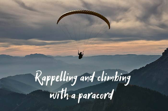 rappelling with a paracord