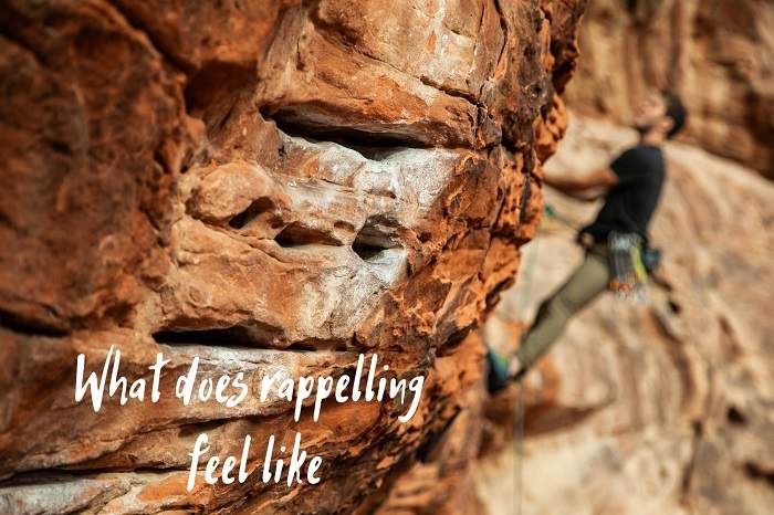 what does rappelling feel like